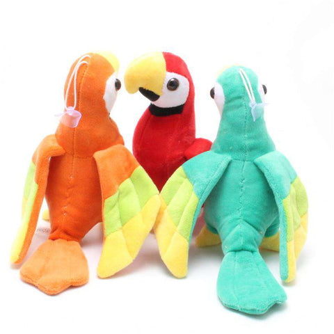 Cute Stuffed Macaw Parrot Toy - Green Earth Animals
