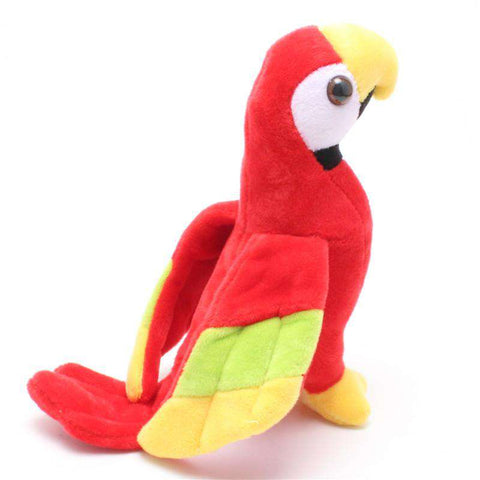 Image of Cute Stuffed Macaw Parrot Toy - Green Earth Animals