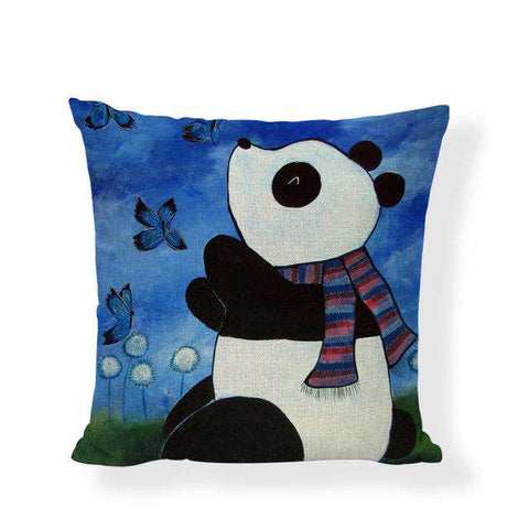 Giant Panda Pillow Cushion Covers - Green Earth Animals