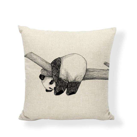 Image of Giant Panda Pillow Cushion Covers - Green Earth Animals