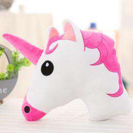 Cute White Unicorn Pillows - Green Earth Animals