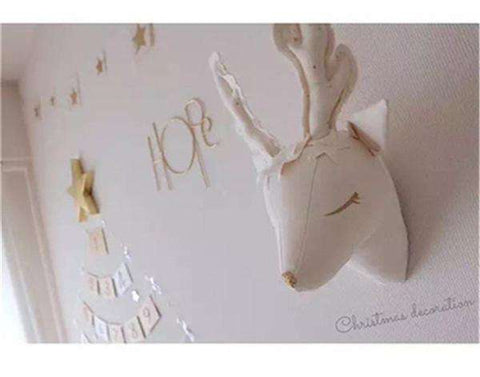Plush Reindeer Wall Decor - Green Earth Animals