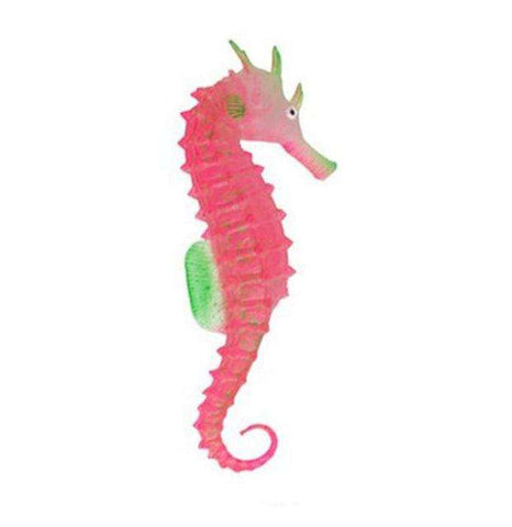 Image of Glowing Seahorse Aquarium Ornament - Green Earth Animals