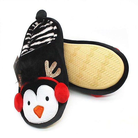 Image of Cute Penguin Winter Slippers