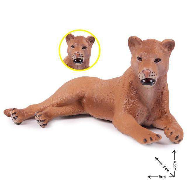 Collectible African Lioness Miniature Toy Figure