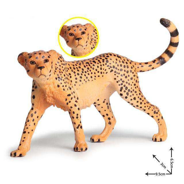Collectible African Cheetah Miniature Toy Figure