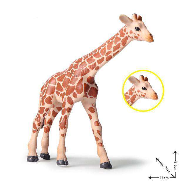 Collectible African Baby Giraffe Miniature Toy Figure