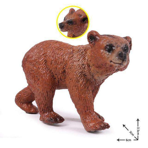 Collectible Baby Brown Bear Cub Miniature Toy Figure