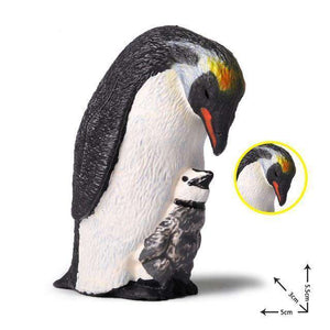 Collectible Penguin and Chick Miniature Toy Figure