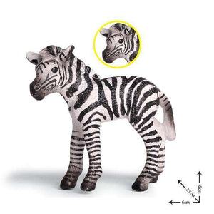 Collectible Baby African Zebra Miniature Toy Figure