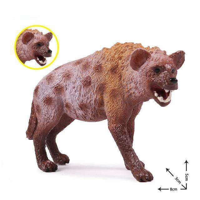 Collectible African Hyena Miniature Toy Figure