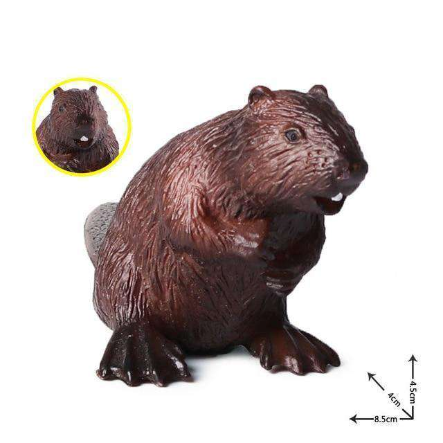 Collectible North American Beaver Miniature Toy Figure