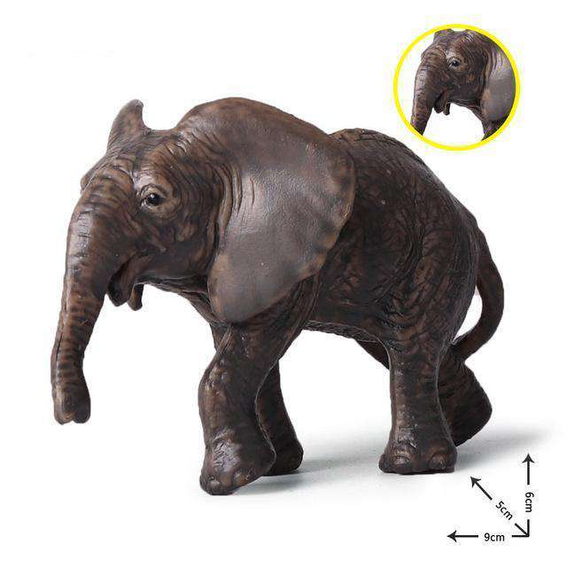Collectible Baby African Elephant Miniature Toy Figure