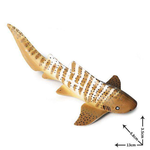 Collectible Zebra Shark Miniature Toy Figure