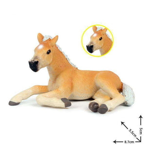 Collectible Baby Palomino Horse Foal Miniature Toy Figure