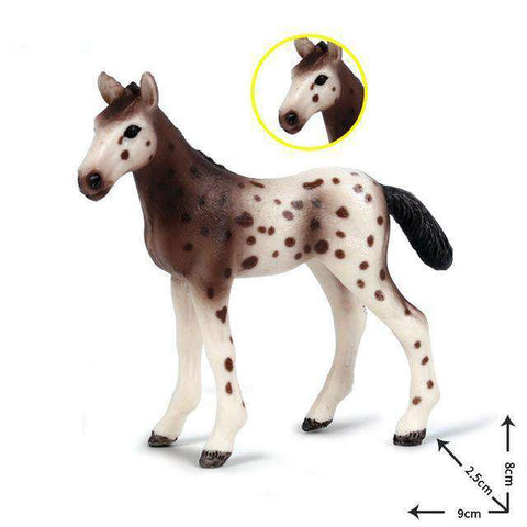 Collectible Baby Appaloosa Horse Foal Miniature Toy Figure