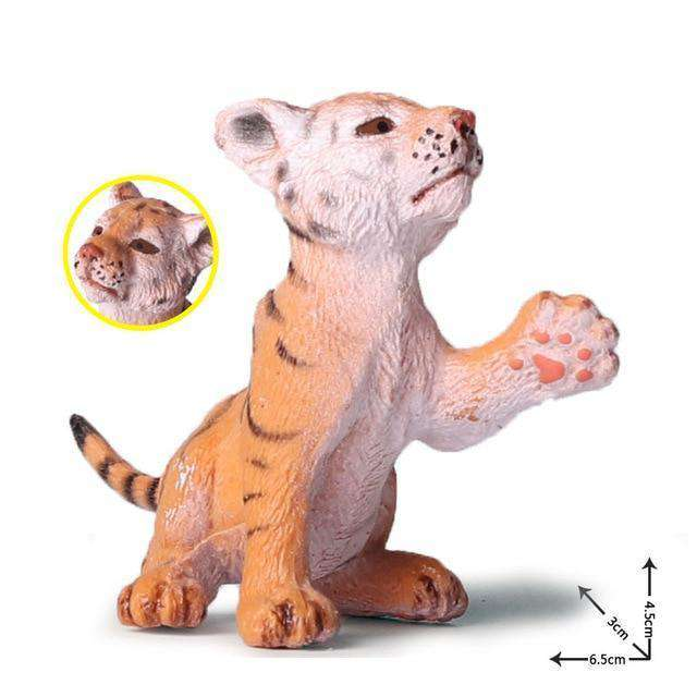 Collectible Baby Tiger Cub Miniature Toy Figure