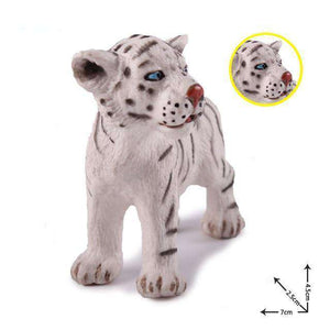 Collectible Baby White Tiger Cub Miniature Toy Figure
