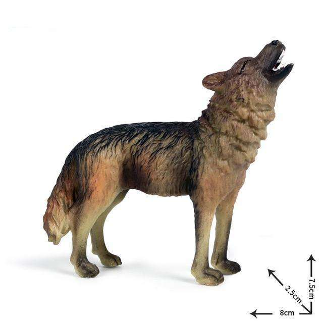 Collectible Howling Wolf Miniature Toy Figure