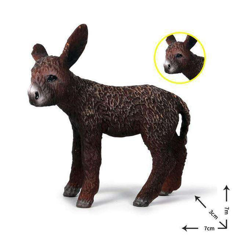 Collectible Baby Donkey Miniature Toy Figure