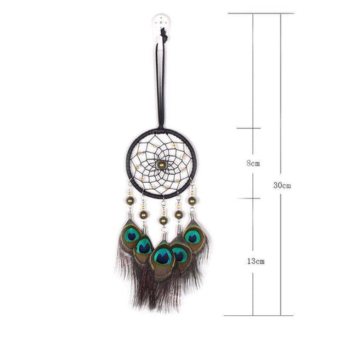 Native American Peacock Feather Dreamcatcher