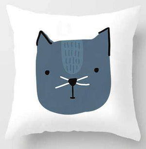 Cute Cartoon Cat Pillow Cover for Kids