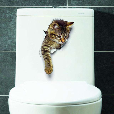 Adorable Kitten Wall Decal Stickers