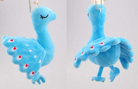 Image of Plush Peacock Keychain Pendant
