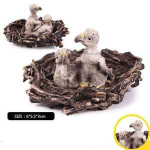 Collectible Baby Eagle Nest Eaglets Figures