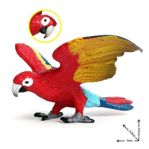 Collectible Scarlet Macaw Parrot Figure