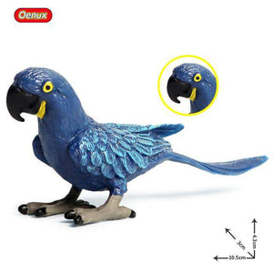 Collectible Hyacinth Macaw Parrot Figure