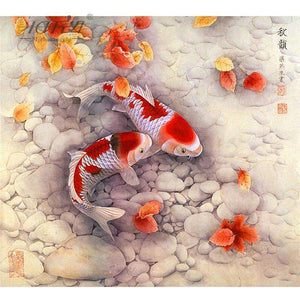 500 Piece Chinese Koi Wooden Puzzle