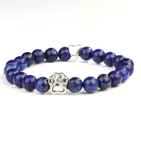 Natural Healing Stone Dog Paw Bracelet