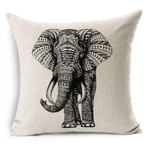 African Elephant Printed Throw Pillow Cover