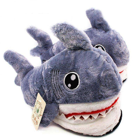 Image of Plush Shark Slippers