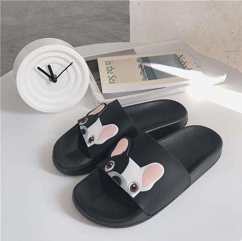 Image of Frenchie Bulldog Flip Flop Sandals