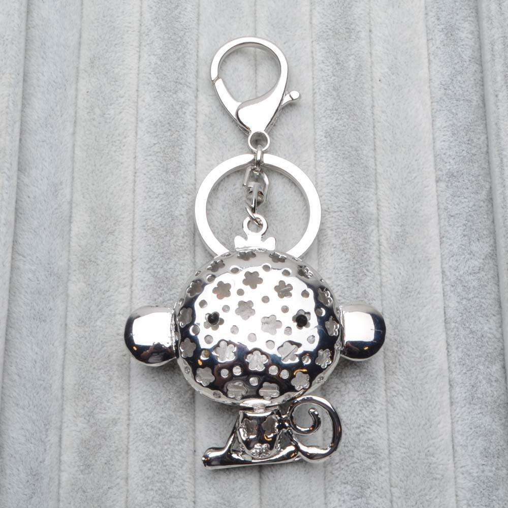 Cute Monkey Crystal Rhinestone Pendant Key Chain