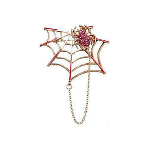 Spiderweb Chain Pin Jewelry