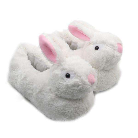 Image of White Rabbit Slippers