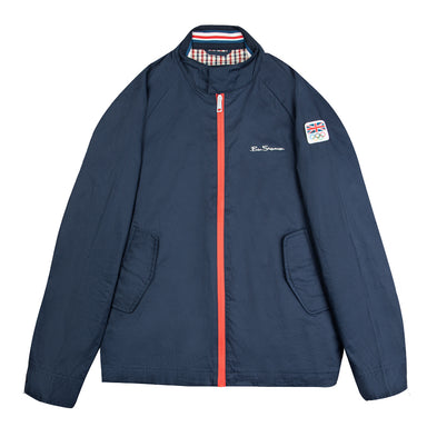 Ben Sherman Team GB Men's Midnight Harrington Jacket