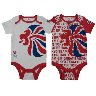 Team GB 2pk Bodysuits-Team GB Shop