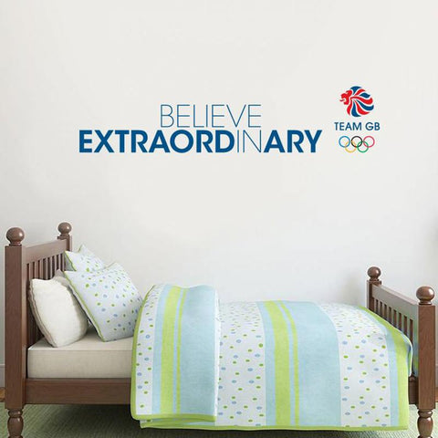 Team GB Believe in Extraordinary Wall Sticker