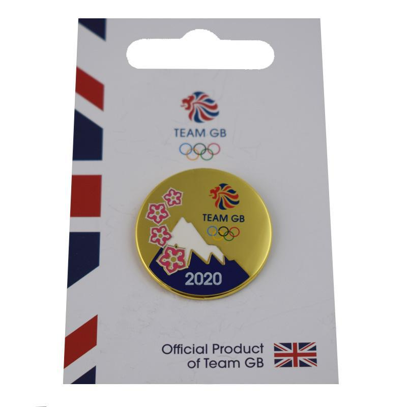 Team GB Mount Fujiyama with Olympic rings Pin-Team GB Shop