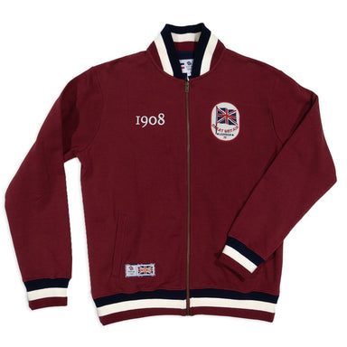 Team GB 1908 Full Zip Sweatshirt - Burgundy Red | Team GB Official Store