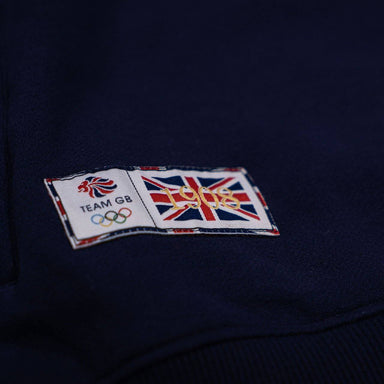 Team GB 1908 1/2 Zip Sweatshirt - Navy/Burgundy | Team GB Official Store