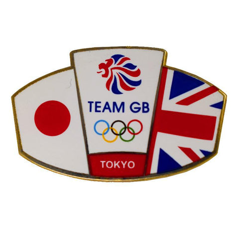 Team GB Union Jack and Japanese flag Tokyo Pin