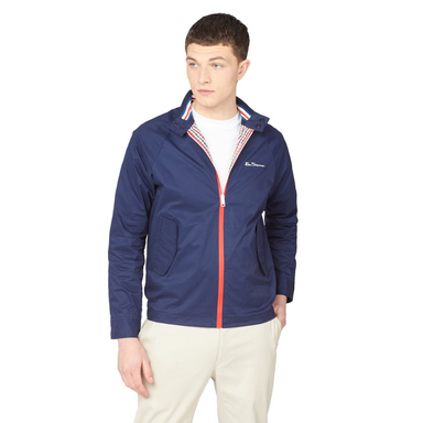 Ben Sherman Team GB Men's Midnight Harrington Jacket - Model