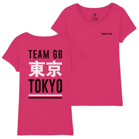 Team GB Izu T-Shirt Women's Raspberry