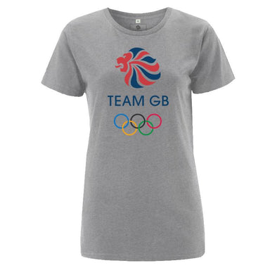 Team GB Olympic Colour Logo T-Shirt Women's Grey-Team GB Shop