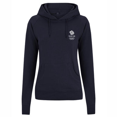 Team GB Olympic Small White Logo Hoodie Women's-Team GB Shop